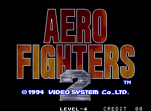 Aero Fighters 2 / Sonic Wings 2 Title