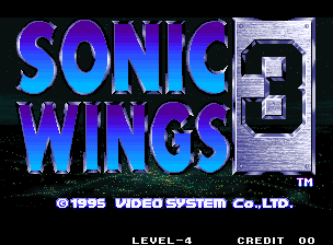Aero Fighters 3 / Sonic Wings 3 Title